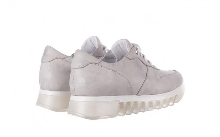 Sneakersy bayla-185 185 105 srebrny, skóra naturalna  - bayla - nasze marki 3