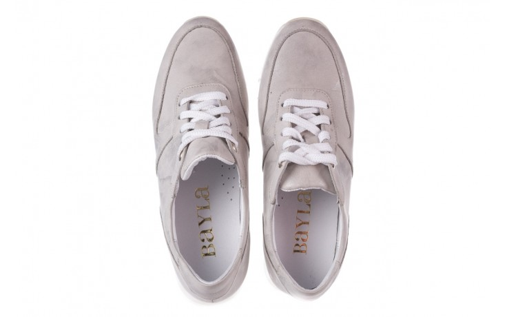 Sneakersy bayla-185 185 105 srebrny, skóra naturalna  - sneakersy - buty damskie - kobieta 4