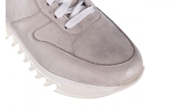 Sneakersy bayla-185 185 105 srebrny, skóra naturalna  - bayla - nasze marki 5