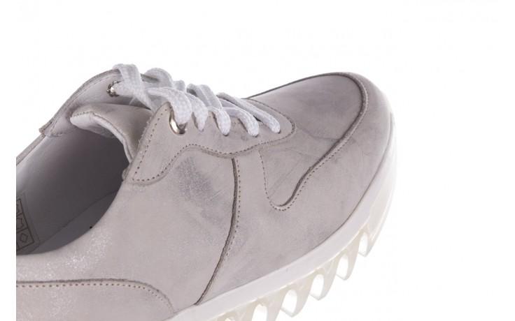 Sneakersy bayla-185 185 105 srebrny, skóra naturalna  - sneakersy - buty damskie - kobieta 7