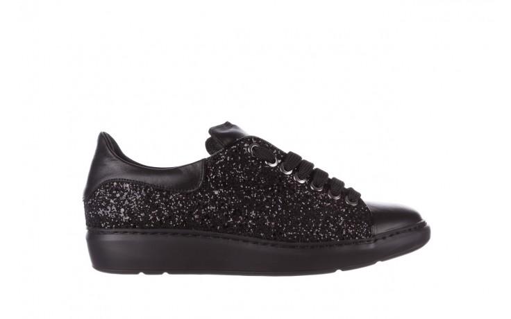Trampki bayla-185 185 104 glitter czarny, skóra naturalna  - skórzane - trampki - buty damskie - kobieta