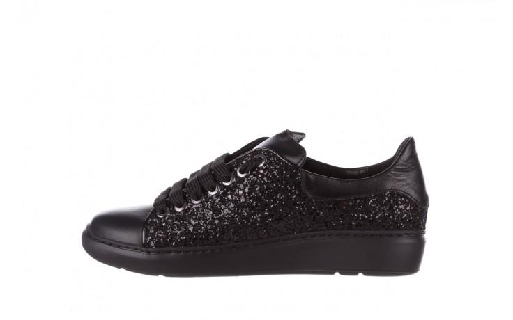 Trampki bayla-185 185 104 glitter czarny, skóra naturalna  - skórzane - trampki - buty damskie - kobieta 2