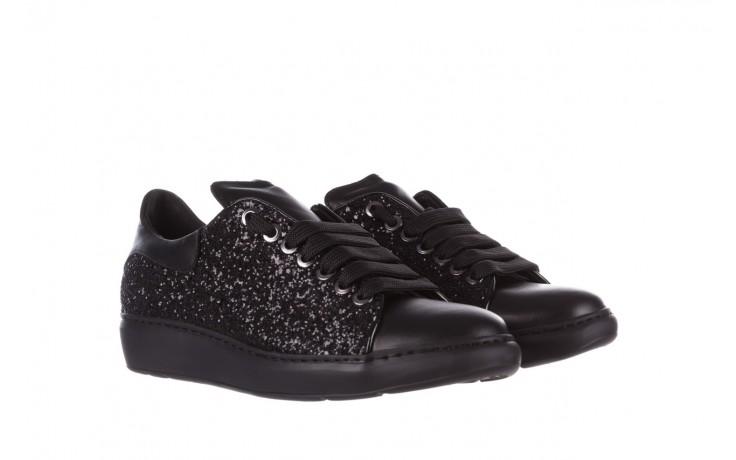 Trampki bayla-185 185 104 glitter czarny, skóra naturalna  - skórzane - trampki - buty damskie - kobieta 1