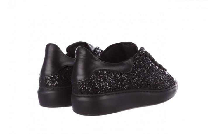 Trampki bayla-185 185 104 glitter czarny, skóra naturalna  - skórzane - trampki - buty damskie - kobieta 3