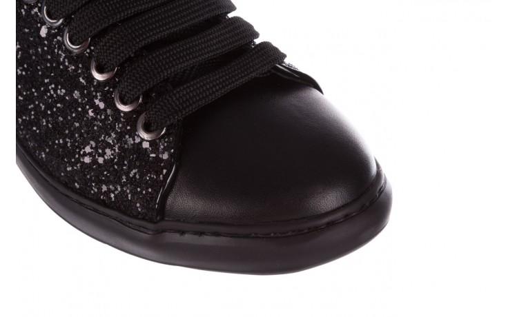 Trampki bayla-185 185 104 glitter czarny, skóra naturalna  - skórzane - trampki - buty damskie - kobieta 5