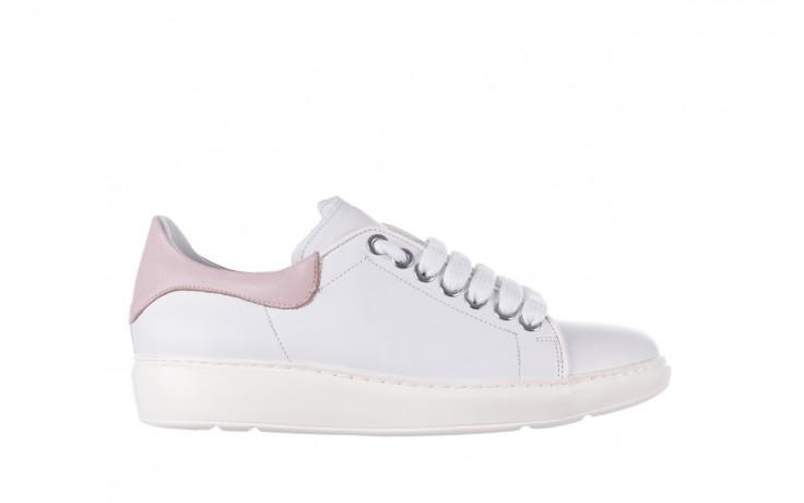 Trampki bayla-185 185 101 biały, skóra naturalna  - niskie - trampki - buty damskie - kobieta
