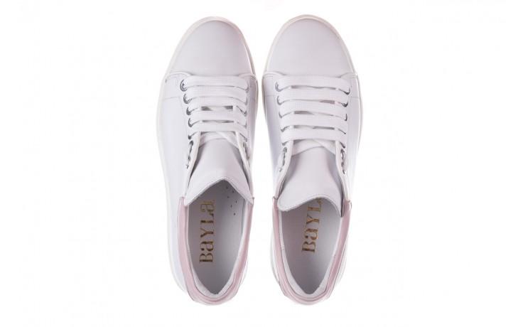 Trampki bayla-185 185 101 biały, skóra naturalna  - niskie - trampki - buty damskie - kobieta 4
