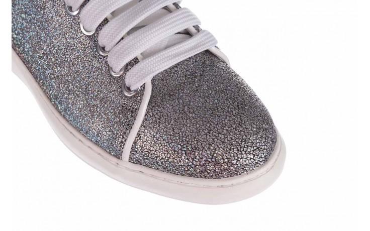 Trampki bayla-185 185 102 srebrny, skóra naturalna  - skórzane - trampki - buty damskie - kobieta 5