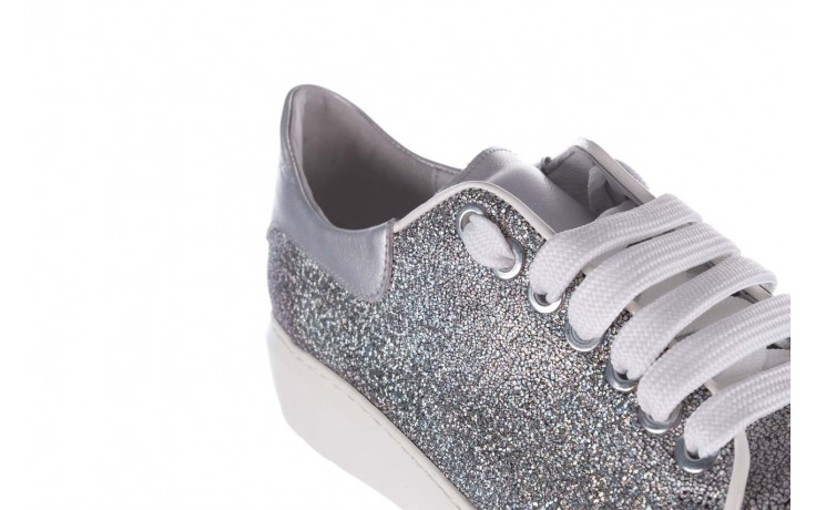 Trampki bayla-185 185 102 srebrny, skóra naturalna  - skórzane - trampki - buty damskie - kobieta 6