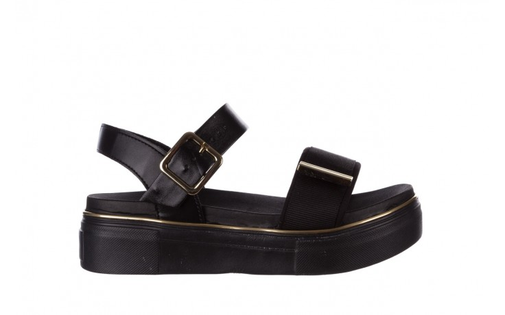 Sandały azaleia 400 290 napa snow black-black, czarny, skóra ekologiczna/ materiał  - na platformie - sandały - buty damskie - kobieta