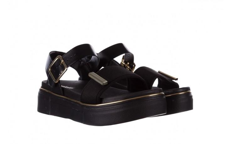 Sandały azaleia 400 290 napa snow black-black, czarny, skóra ekologiczna/ materiał  - azaleia - nasze marki 1