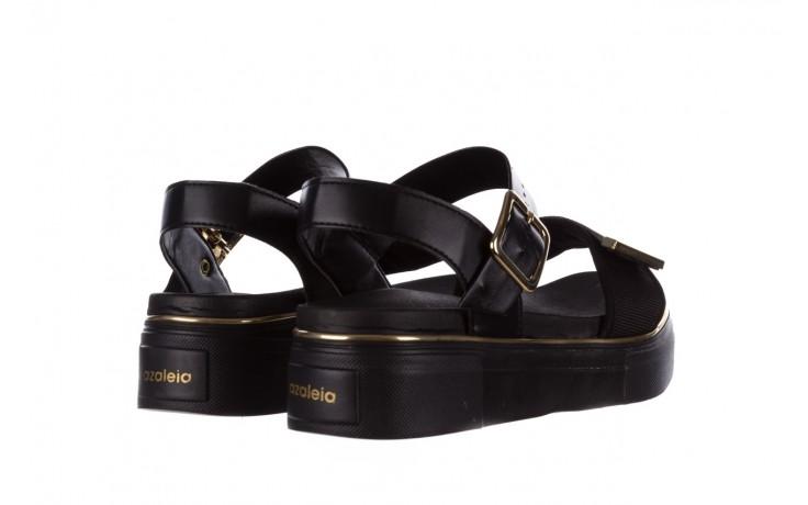 Sandały azaleia 400 290 napa snow black-black, czarny, skóra ekologiczna/ materiał  - na platformie - sandały - buty damskie - kobieta 3