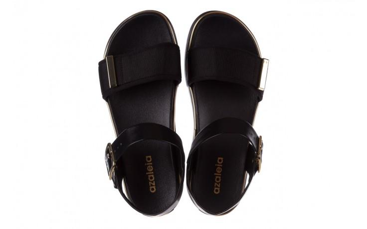 Sandały azaleia 400 290 napa snow black-black, czarny, skóra ekologiczna/ materiał  - na platformie - sandały - buty damskie - kobieta 4