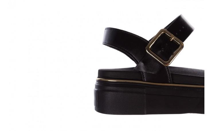 Sandały azaleia 400 290 napa snow black-black, czarny, skóra ekologiczna/ materiał  - na platformie - sandały - buty damskie - kobieta 6