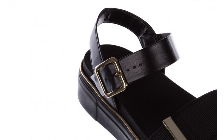 Sandały azaleia 400 290 napa snow black-black, czarny, skóra ekologiczna/ materiał  - na platformie - sandały - buty damskie - kobieta 7