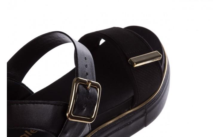 Sandały azaleia 400 290 napa snow black-black, czarny, skóra ekologiczna/ materiał  - na platformie - sandały - buty damskie - kobieta 8