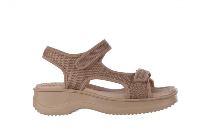 Sandały azaleia 320 323 beige sand 20, beż, materiał - sandały - buty damskie - kobieta