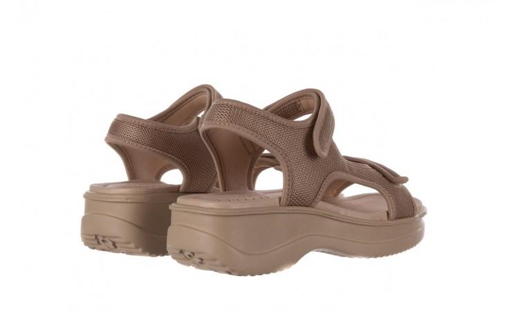 Sandały azaleia 320 323 beige sand 20, beż, materiał - sandały - buty damskie - kobieta 3