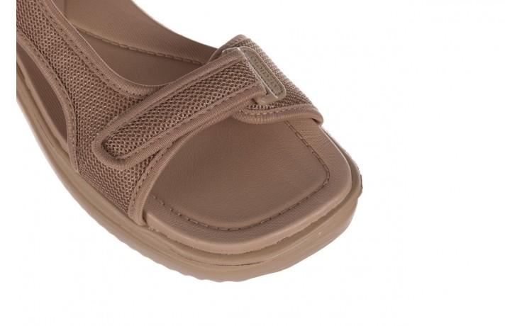 Sandały azaleia 320 323 beige sand 20, beż, materiał - sandały - buty damskie - kobieta 5