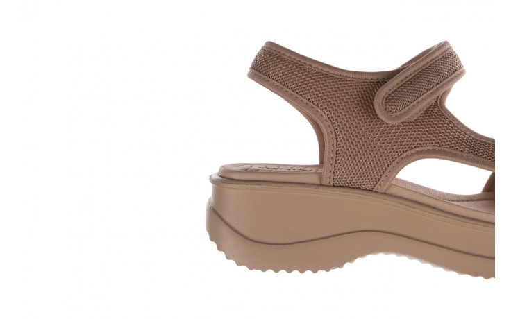 Sandały azaleia 320 323 beige sand 20, beż, materiał - sandały - buty damskie - kobieta 6