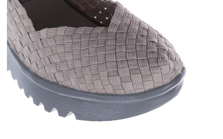 Półbuty rock brasil lt grey-leather counter, szary, materiał - rock - nasze marki 5