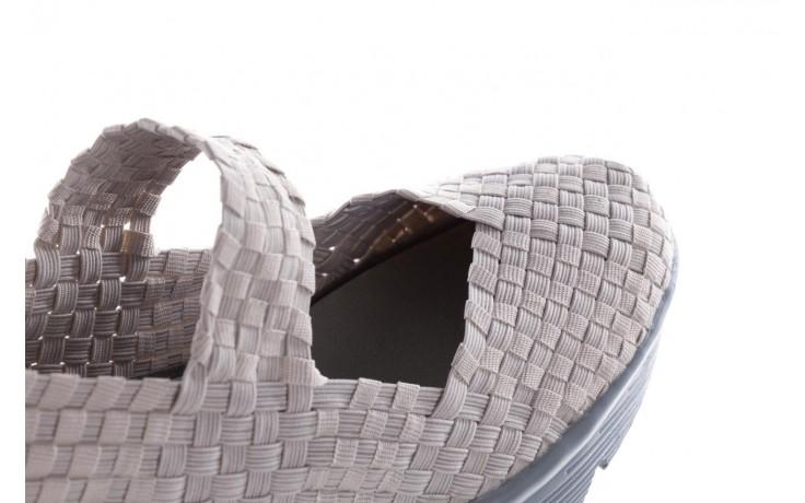 Półbuty rock brasil lt grey-leather counter, szary, materiał - rock - nasze marki 6