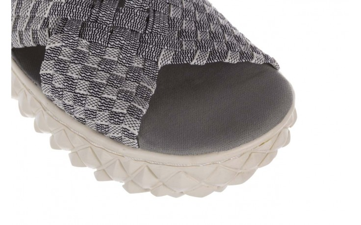 Sandały rock dakota 8 white black smoke, czarny/ biały, materiał  - rock - nasze marki 5