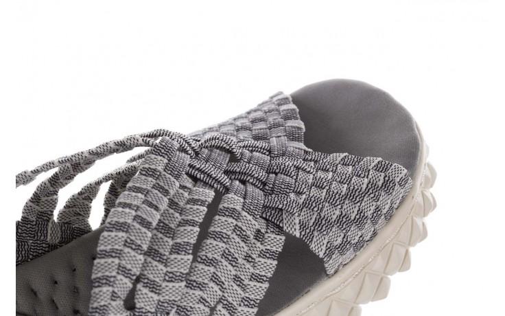 Sandały rock dakota 8 white black smoke, czarny/ biały, materiał  - rock - nasze marki 6