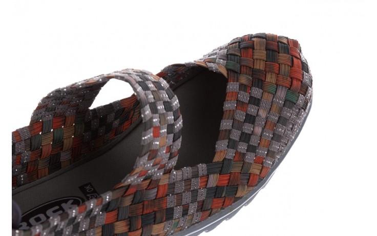 Półbuty rock brixton moss orange smoke-grey silver, pomarańczowy/ zielony, materiał - rock - nasze marki 6