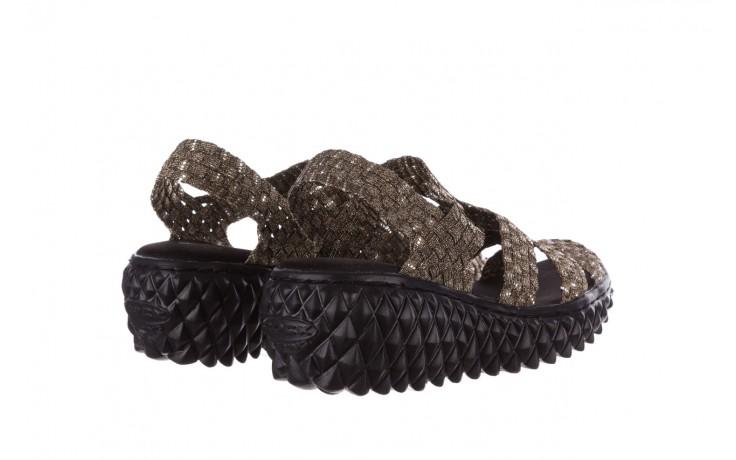 Sandały rock vivian bronze-bronze silver, złoty, materiał 3