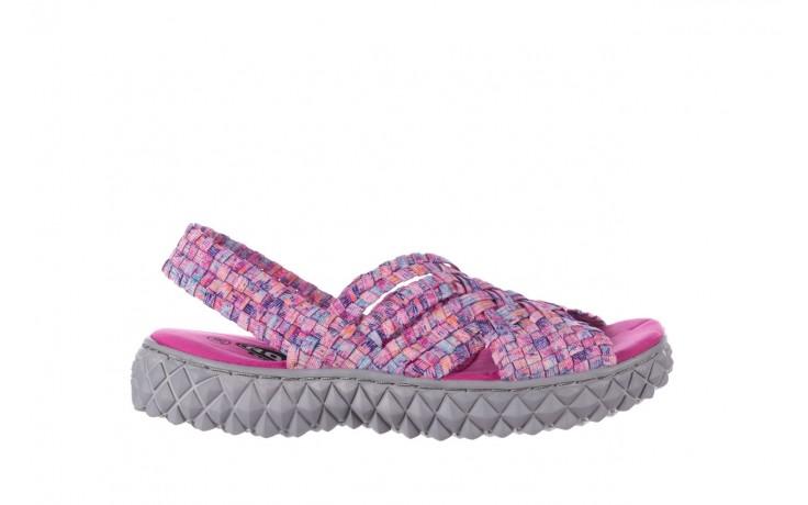 Sandały rock dakota pink purple smoke 20, wielokolorowy, materiał - płaskie - sandały - buty damskie - kobieta