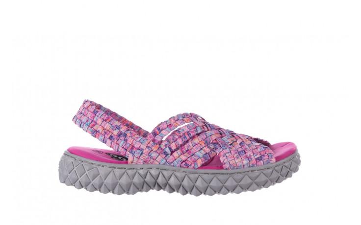 Sandały rock dakota pink purple smoke 21 032829, wielokolorowy, materiał  - sandały - buty damskie - kobieta