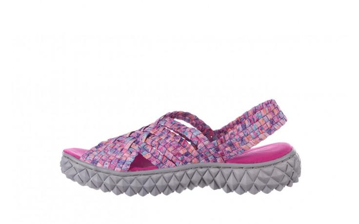 Sandały rock dakota pink purple smoke 21 032829, wielokolorowy, materiał  - sandały - buty damskie - kobieta 2