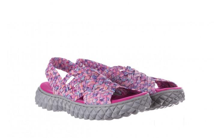 Sandały rock dakota pink purple smoke 21 032829, wielokolorowy, materiał  - sandały - buty damskie - kobieta 1
