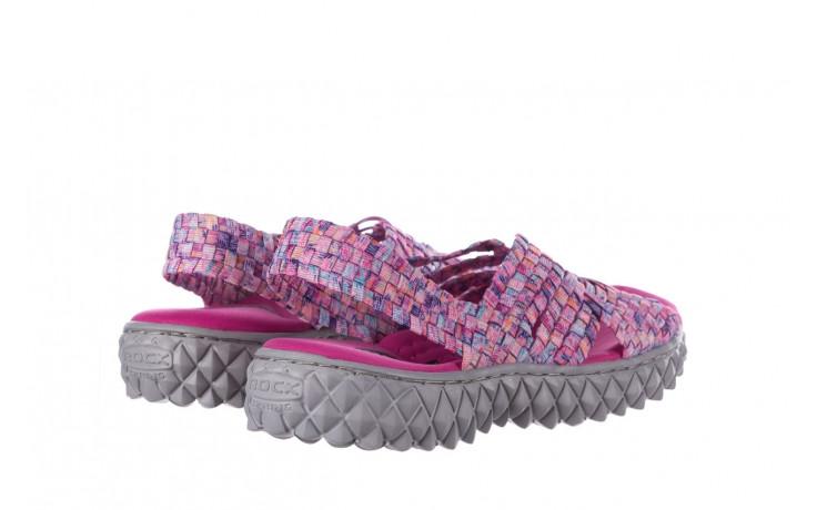 Sandały rock dakota pink purple smoke 21 032829, wielokolorowy, materiał  - sandały - buty damskie - kobieta 3