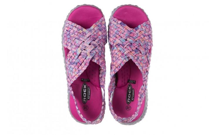 Sandały rock dakota pink purple smoke 21 032829, wielokolorowy, materiał  - sandały - buty damskie - kobieta 4
