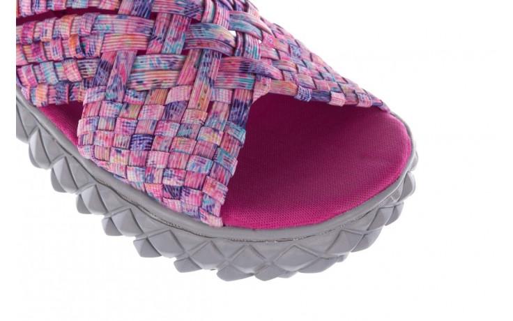 Sandały rock dakota pink purple smoke 21 032829, wielokolorowy, materiał  - sandały - buty damskie - kobieta 5