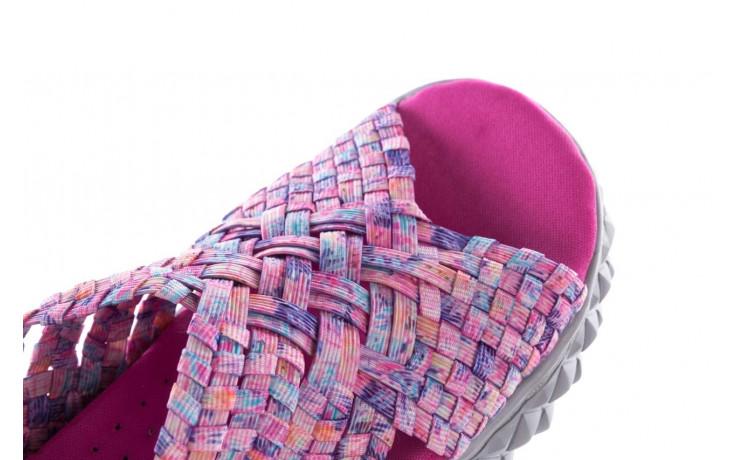 Sandały rock dakota pink purple smoke 21 032829, wielokolorowy, materiał  - sandały - buty damskie - kobieta 6