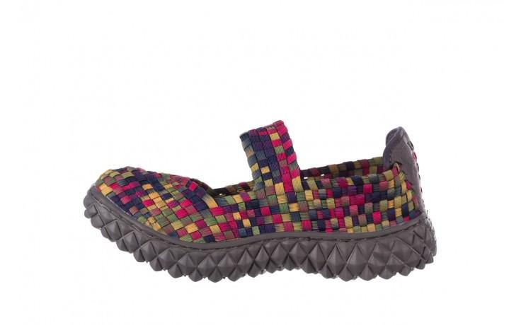 Półbuty rock over fuchsia purple yellow smoke, wielokolorowy, materiał  - obuwie sportowe - buty damskie - kobieta 2