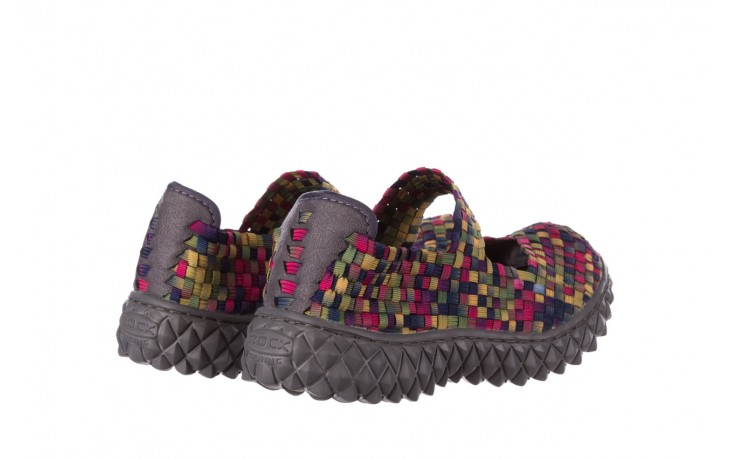 Półbuty rock over fuchsia purple yellow smoke, wielokolorowy, materiał  - obuwie sportowe - buty damskie - kobieta 3