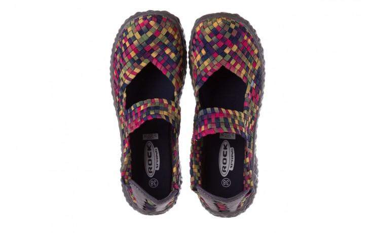 Półbuty rock over fuchsia purple yellow smoke, wielokolorowy, materiał  - obuwie sportowe - buty damskie - kobieta 4