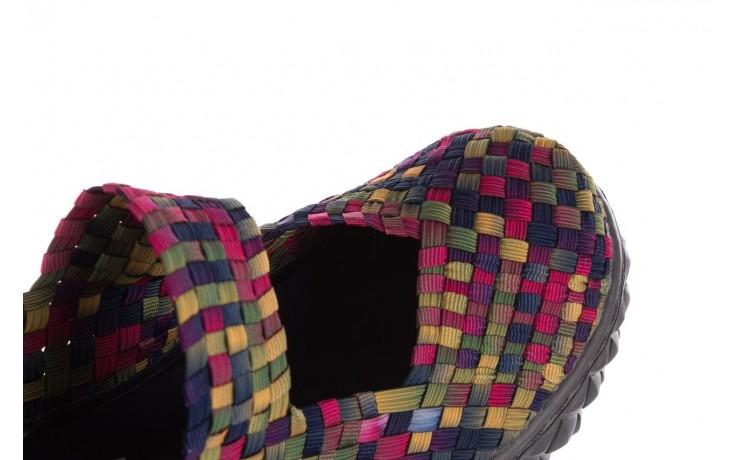 Półbuty rock over fuchsia purple yellow smoke, wielokolorowy, materiał  - obuwie sportowe - buty damskie - kobieta 5