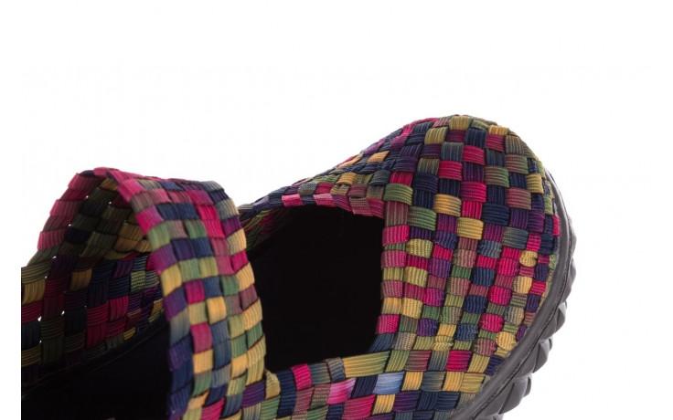 Półbuty rock over fuchsia purple yellow smoke 21 032856, wielokolorowy, materiał - rock - nasze marki 6