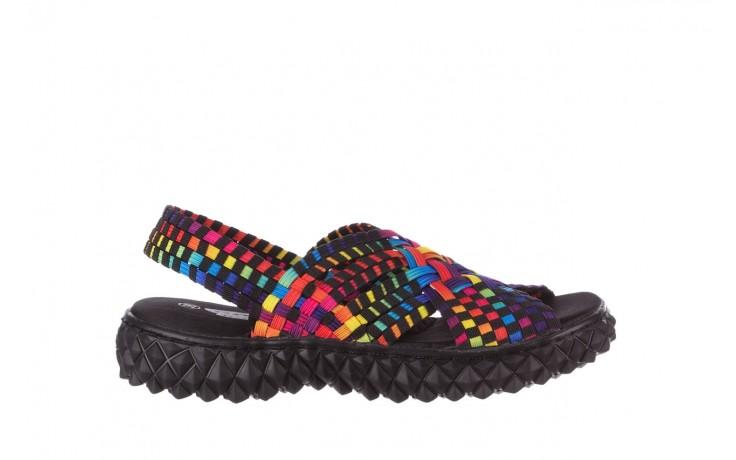 Sandały rock dakota tutti frutti black 20, wielokolorowy, materiał  - płaskie - sandały - buty damskie - kobieta
