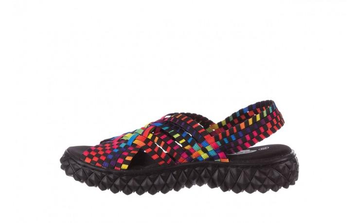 Sandały rock dakota tutti frutti black 20, wielokolorowy, materiał  - płaskie - sandały - buty damskie - kobieta 2