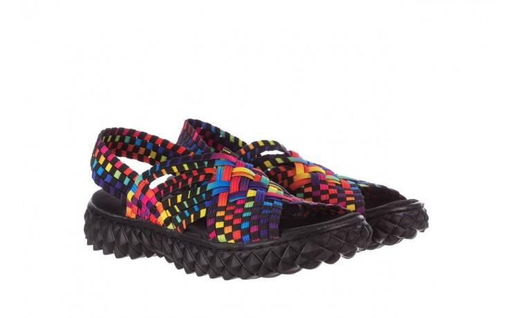 Sandały rock dakota tutti frutti black 20, wielokolorowy, materiał  - płaskie - sandały - buty damskie - kobieta 1