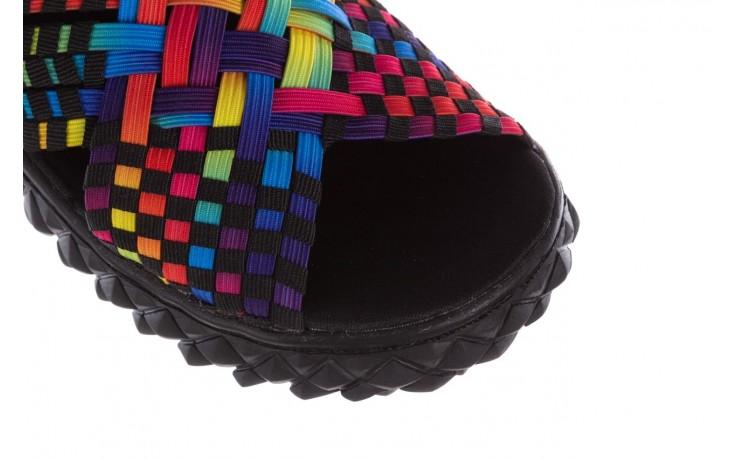 Sandały rock dakota tutti frutti black, wielokolorowy, materiał - rock - nasze marki 5