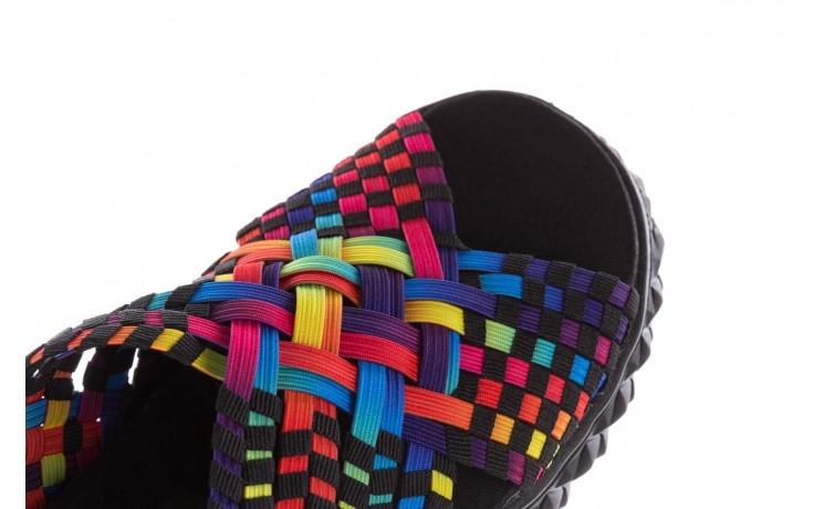 Sandały rock dakota tutti frutti black 20, wielokolorowy, materiał  - płaskie - sandały - buty damskie - kobieta 6