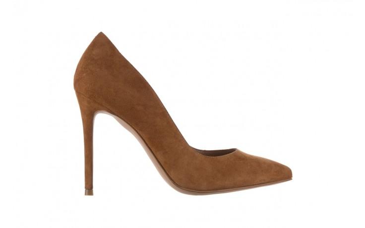 Szpilki bayla-182 2149 carmel zamsz, skóra naturalna  - do szpica - szpilki - buty damskie - kobieta