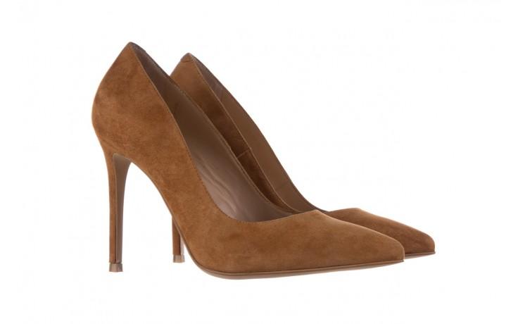 Szpilki bayla-182 2149 carmel zamsz, skóra naturalna  - do szpica - szpilki - buty damskie - kobieta 1